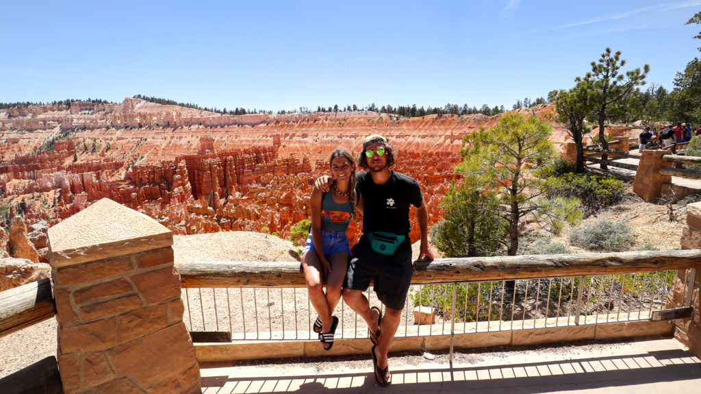 Briana and Billy at sunset Point in Bryce Canyon National Park
