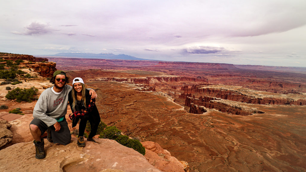 Briana and Billy at Grand View Point in Canyonlands national park