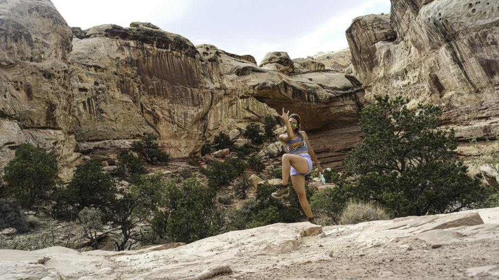 Briana at Hickman Bridge in Capitol Reef national park