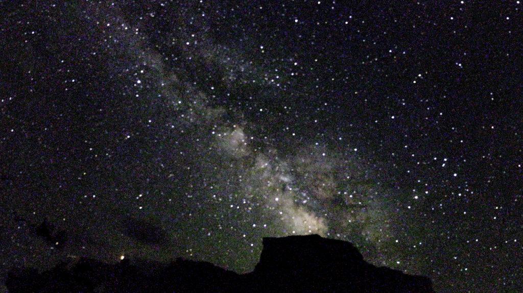 The milky way galaxy at Hite Marina Campground